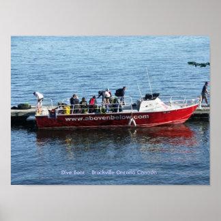 Dive Boat - Brockville Ontario Canada Posters