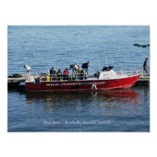 Dive Boat - Brockville Ontario Canada Posters