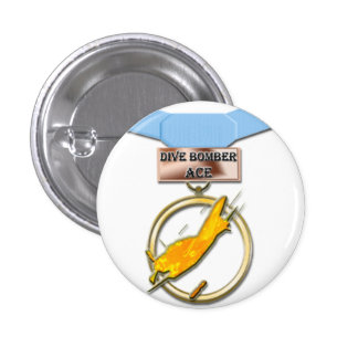 Dive Bomber Ace medal button