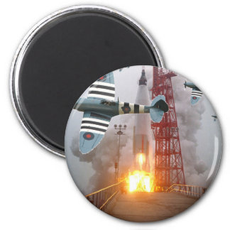Dive Bombers Attack Missile! 2 Inch Round Magnet