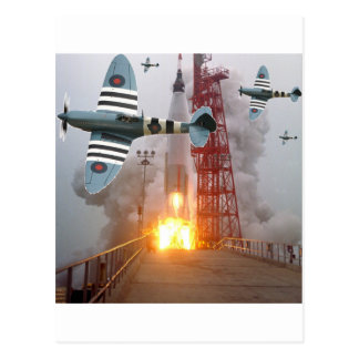 Dive Bombers Attack Missile! Postcard