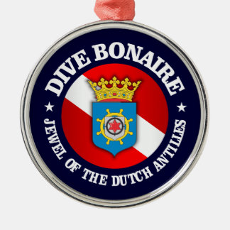 Dive Bonaire (rd) Metal Ornament