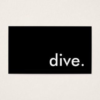 dive. business card