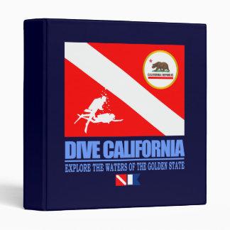 Dive California 3 Ring Binder