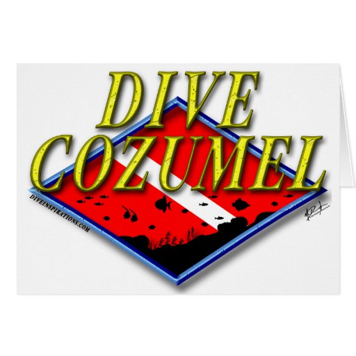 Dive Cozumel Greeting Cards