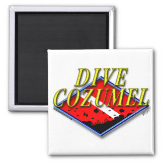 Dive Cozumel 2 Inch Square Magnet
