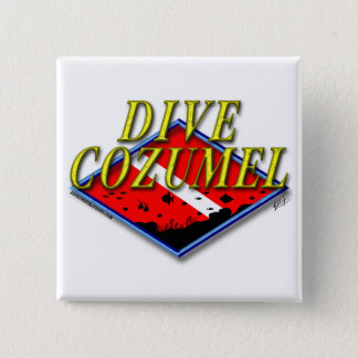 Dive Cozumel Pinback Button