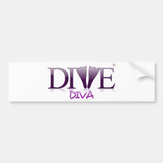 Dive Diva Fins Bumper Sticker