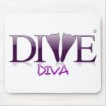 Dive Diva Fins Mouse Pad