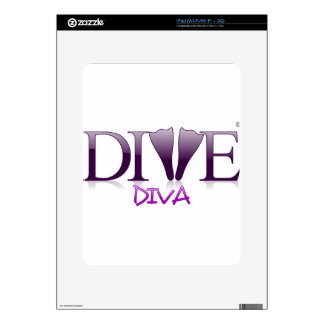 Dive Diva Fins Decal For iPad