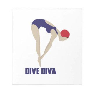 Dive Diva Memo Notepad