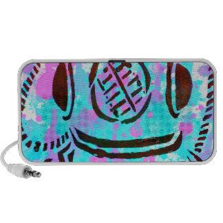 Dive Dive My Darling! Scuba Diver Paper Graffiti Notebook Speakers
