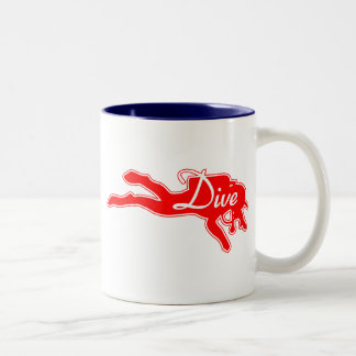 Dive Diver 2012 Two-Tone Coffee Mug