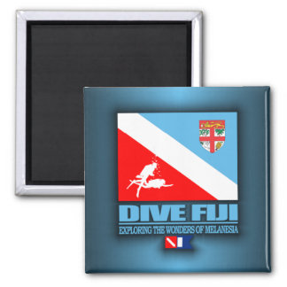 Dive Fiji 2 Inch Square Magnet