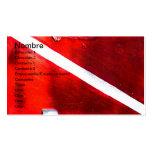 DIVE FLAG BUSINESS CARD TEMPLATES