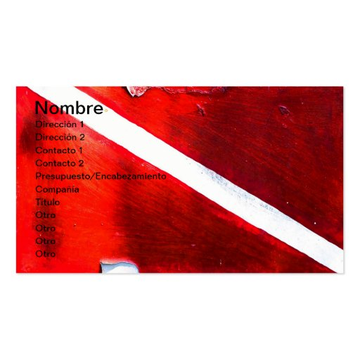 DIVE FLAG BUSINESS CARD TEMPLATES