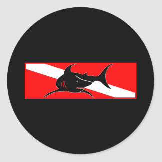 Dive Flag Collection Classic Round Sticker
