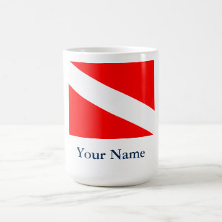 Dive Flag (Customizable) Coffee Mug