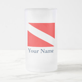 Dive Flag (Customizable) Frosted Glass Beer Mug