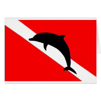 Dive Flag Dolphin Card