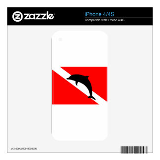 Dive Flag Dolphin iPhone 4 Decals