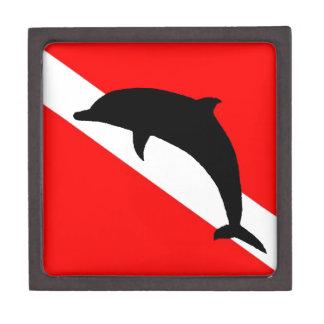 Dive Flag Dolphin Keepsake Box