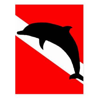 Dive Flag Dolphin Postcard