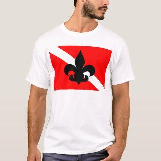 Dive Flag Fleur De Lis T-Shirt