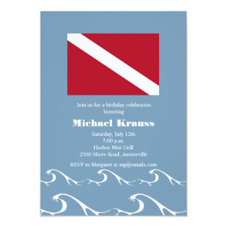 Dive Flag Invitation