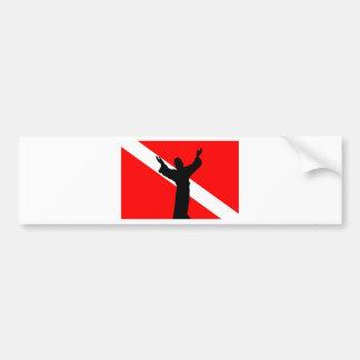 Dive Flag Jesus Bumper Sticker