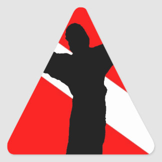 Dive Flag Jesus Triangle Sticker