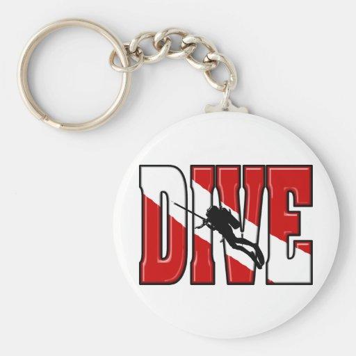Dive Flag Keychains