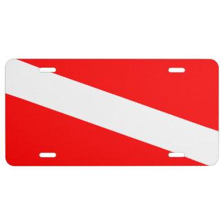 Dive Flag License Plate