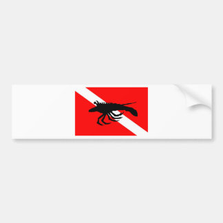 Dive Flag Lobster Bumper Sticker