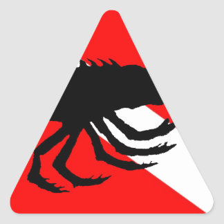 Dive Flag Lobster Triangle Sticker