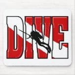 Dive Flag Mousepads