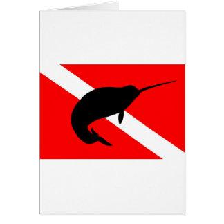 Dive Flag Narwal Card