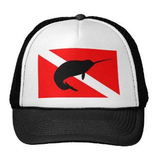 Dive Flag Narwal Trucker Hat
