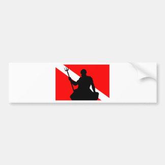 Dive Flag Neptune Bumper Sticker