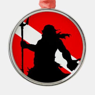 Dive Flag Neptune II Metal Ornament