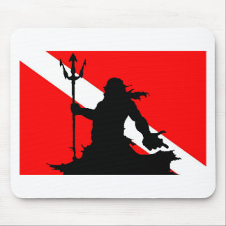 Dive Flag Neptune II Mouse Pad