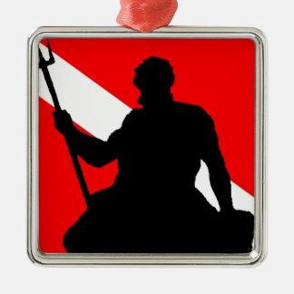 Dive Flag Neptune Metal Ornament