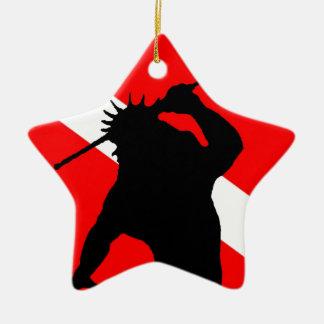 Dive Flag Poseidon Ceramic Ornament
