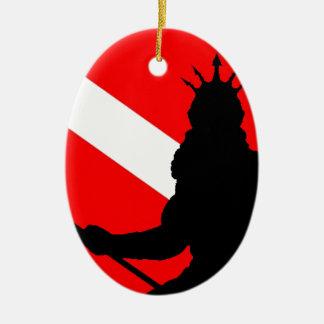 Dive Flag Poseidon II` Ceramic Ornament