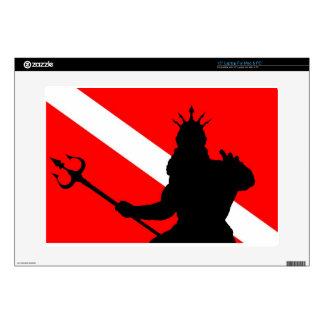 Dive Flag Poseidon II` Laptop Skin