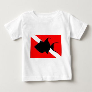 Dive Flag Queen Triggerfish Baby T-Shirt