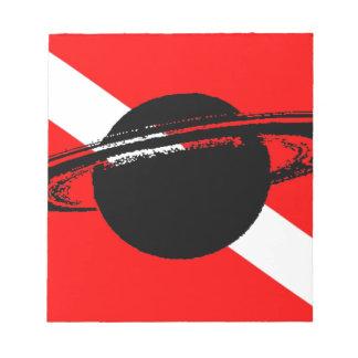 Dive Flag Saturn Notepad