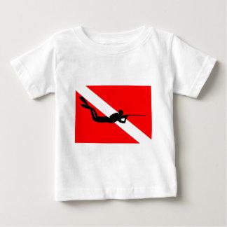 Dive Flag Scuba Baby T-Shirt