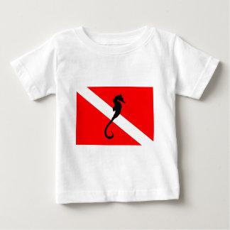 Dive Flag Seahorse Baby T-Shirt