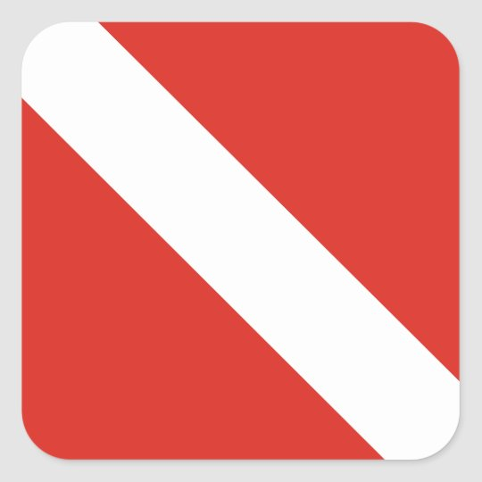 Dive Flag Square Sticker